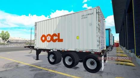 Полуприцеп с 20-ти фунтовым контейнером для American Truck Simulator