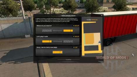 Увеличенный опыт за парковку для American Truck Simulator