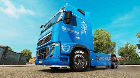 Скин Carstensen на тягач Volvo для Euro Truck Simulator 2