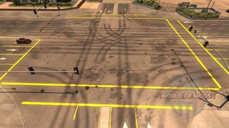 Жёлтая дорожная разметка для American Truck Simulator