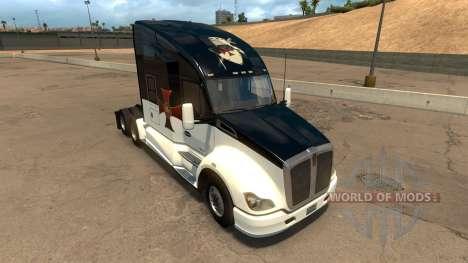 Skin Knights Templar Kenworth T680 для American Truck Simulator