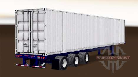 Автономный полуприцеп-контейнеровоз для American Truck Simulator