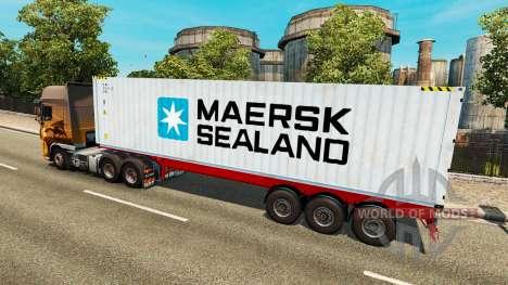 Полуприцеп Maersk Sealand для Euro Truck Simulator 2