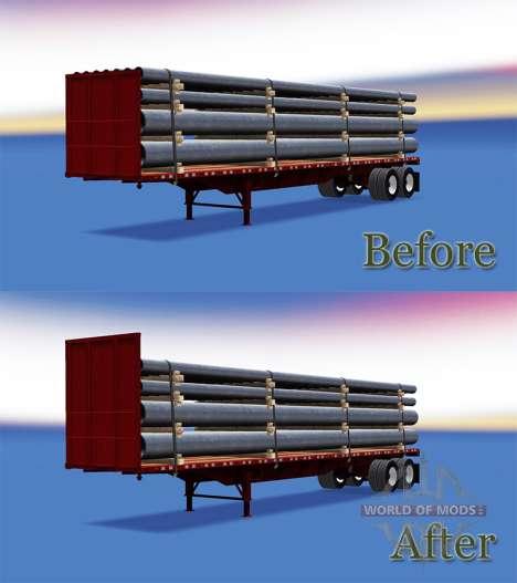 Полуприцеп-площадка для American Truck Simulator