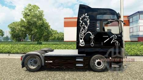 Скин Piss of на тягач MAN для Euro Truck Simulator 2
