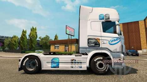 Скин Intel на тягач Scania для Euro Truck Simulator 2
