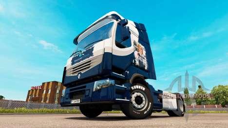 Скин Williams F1 Team на тягач Renault для Euro Truck Simulator 2