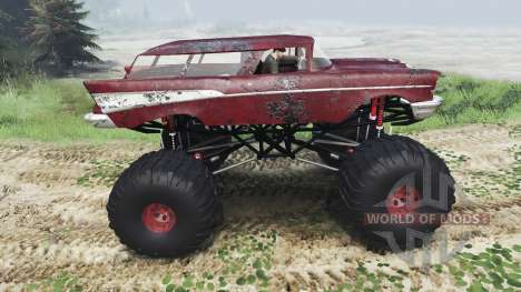 Chevrolet Bel Air Wagon 1957 [monster] для Spin Tires