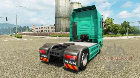 Скин J. Simmerer на тягач MAN для Euro Truck Simulator 2