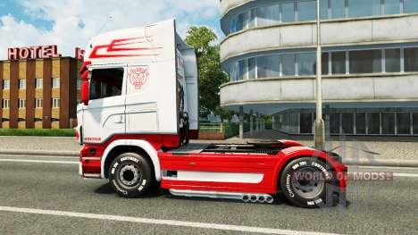 Скин Holland Style на тягач Scania для Euro Truck Simulator 2