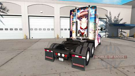 Скин Hanamiya Nagisa на тягач Kenworth для American Truck Simulator