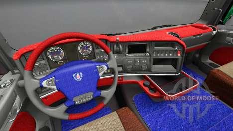 Интерьер Leda у Scania для Euro Truck Simulator 2