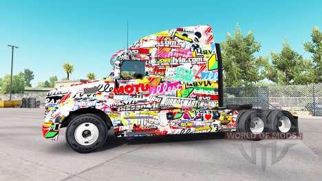 Скин Sticker на тягачи Peterbilt и Kenworth для American Truck Simulator