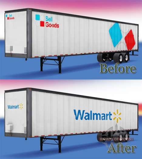 Полуприцеп WalMart для American Truck Simulator