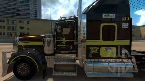 Five Star Transportations skin for Kenworth W900 для American Truck Simulator