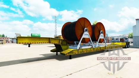 Низкорамный трал с кабелем для American Truck Simulator