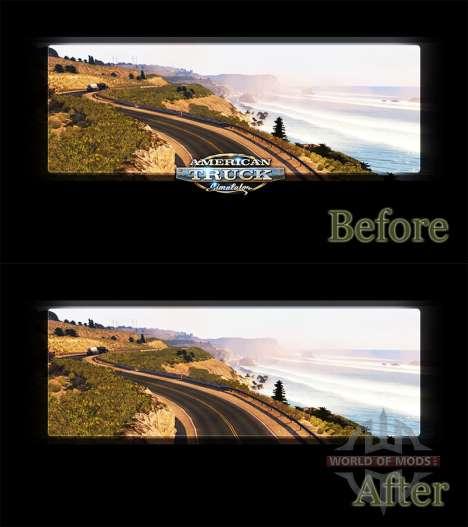 Удаление логотипа ATS в загрузочных экранах для American Truck Simulator