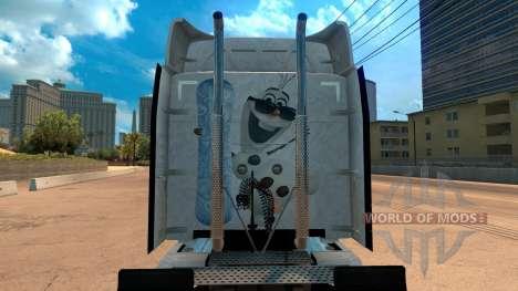 Frozen скин для Peterbilt 579 для American Truck Simulator