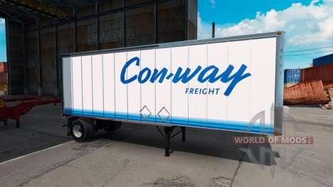 Скин ConWay на полуприцеп для American Truck Simulator