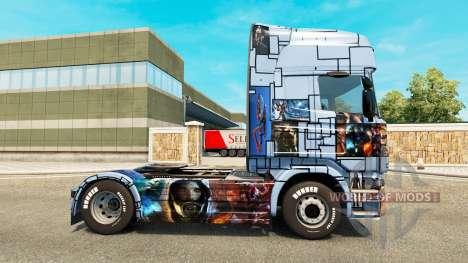 Скин Mass Effect 3 на тягач Scania для Euro Truck Simulator 2