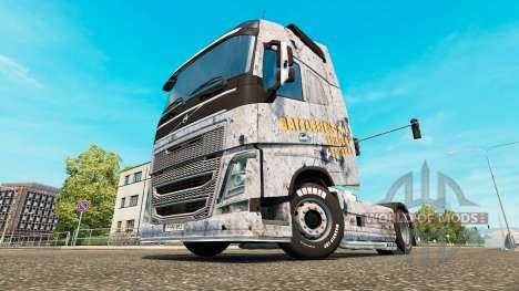 Скин Battlefield 4 на тягач Volvo для Euro Truck Simulator 2