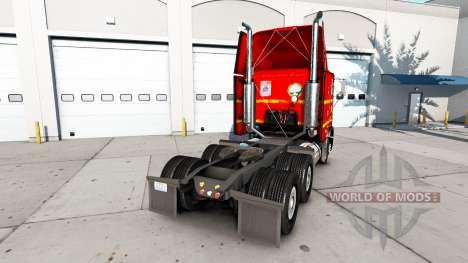 Скин SAIA на тягач Freightliner FLB для American Truck Simulator