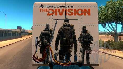 Skin The Division for Peterbilt 389 для American Truck Simulator