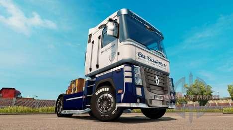 Скин Carstensen на тягач Renault Magnum для Euro Truck Simulator 2