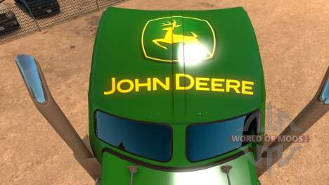 Kenworth W900 John Deere Skin для American Truck Simulator