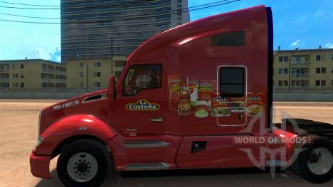 Скин La Costeña для Kenworht T680 для American Truck Simulator