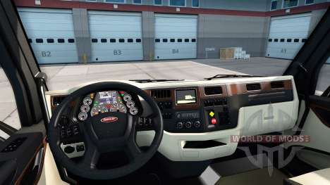 Люксовый интерьер в Peterbilt 579 для American Truck Simulator