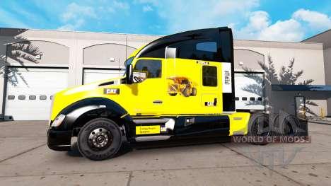 Скин Caterpillar на тягач Kenworth для American Truck Simulator