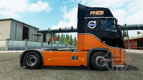 Скин Racing Team на тягач Volvo для Euro Truck Simulator 2