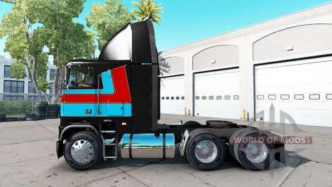Скин Andre Bellemare на тягач Freightliner FLB для American Truck Simulator