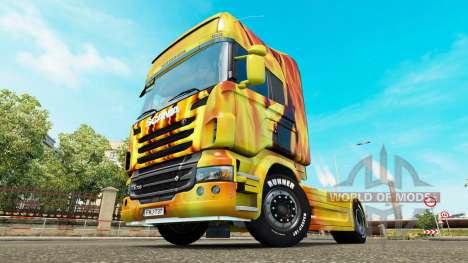 Скин Fire на тягач Scania для Euro Truck Simulator 2