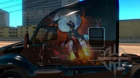 Kenworth T680 Skin Phoenix для American Truck Simulator