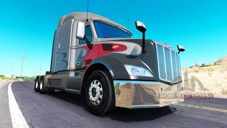 Хромированный бампер на Peterbilt 579 для American Truck Simulator