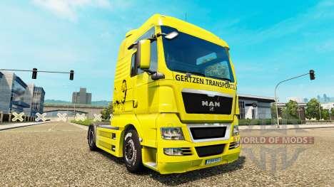 Скин Gertzen Transporte на тягач MAN для Euro Truck Simulator 2
