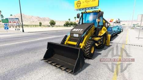 Экскаватор-погрузчик в трафике для American Truck Simulator
