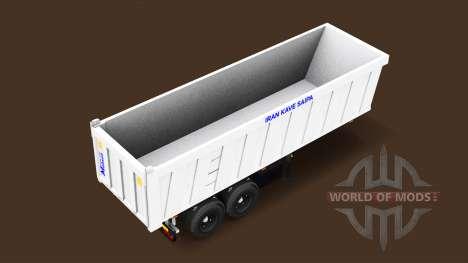Автономный полуприцеп-самосвал для American Truck Simulator