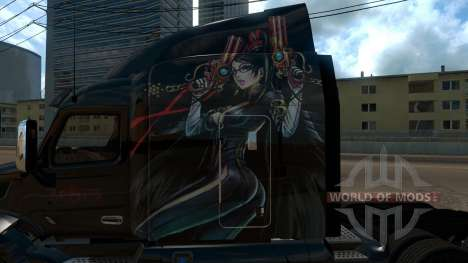 Peterbilt 579 Bayonetta skin для American Truck Simulator