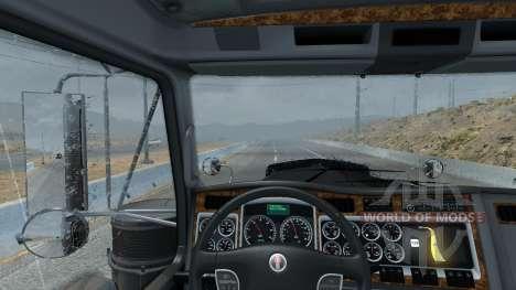 Новый дождь (Realistic 3D ASMR Rain Fog Thunder) для American Truck Simulator