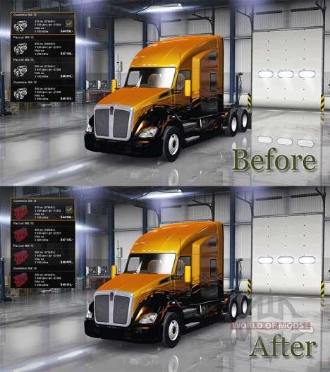 Новые иконки двигателей для American Truck Simulator