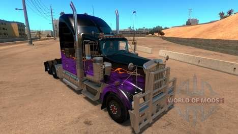 Kenworth W900 Dark Night paintjob для American Truck Simulator