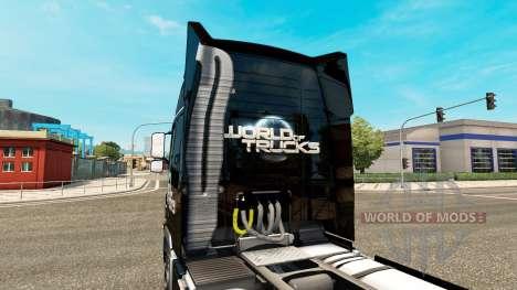 Скин World of Trucks на тягач Volvo для Euro Truck Simulator 2