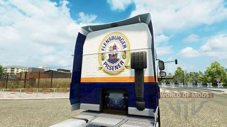 Скин Flensburger Brauerei на тягач DAF для Euro Truck Simulator 2