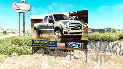 Реклама на билборды v1.1 для American Truck Simulator
