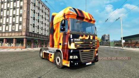 Скин Fire на тягач DAF для Euro Truck Simulator 2