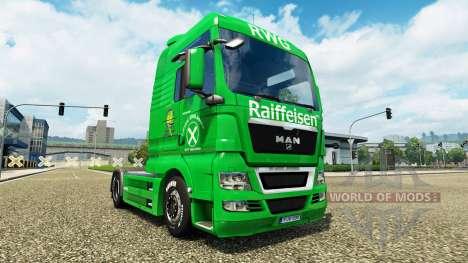 Скин Raiffeisen на тягач MAN для Euro Truck Simulator 2
