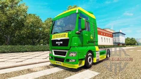 Скин John Deere на тягач MAN для Euro Truck Simulator 2